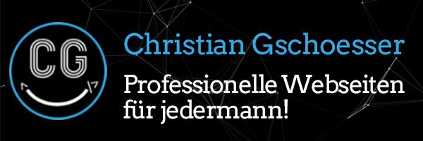 Christian Gschoesser Website Logo